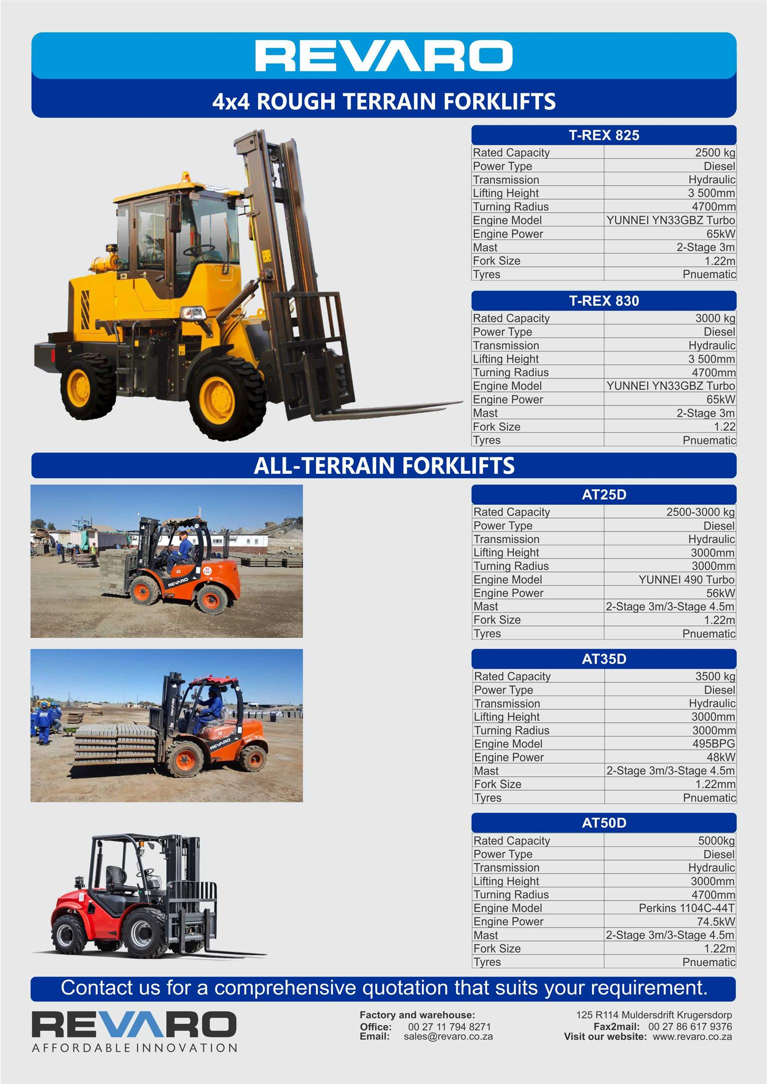 Front end loaders and forklifts