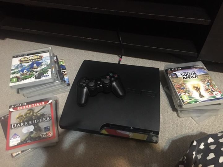 playstation 3 with extra remote and games junk mail