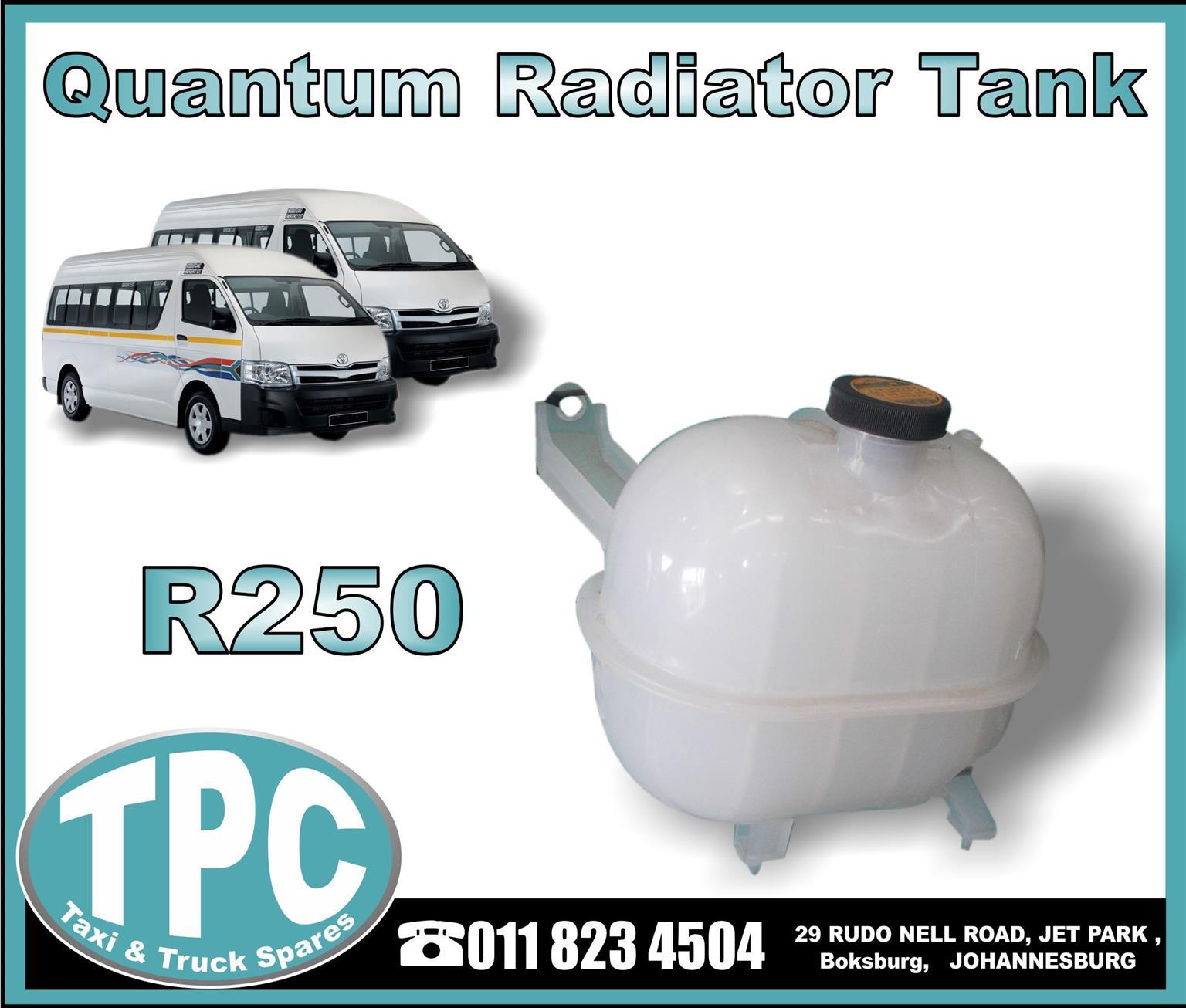 Quantum Radiator Tank - New Replacement Parts.