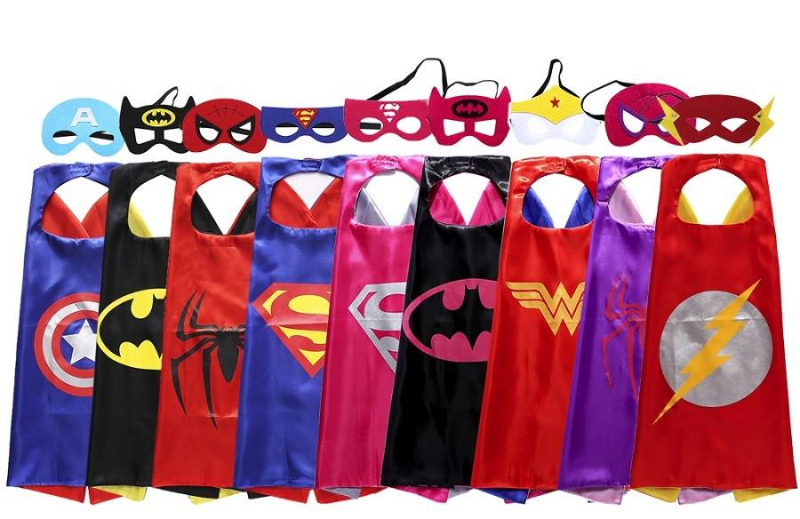 Superhero Caps and Mask sets & Personalised Children's / Kids Superhero Capes available in Johannesburg, with postage anywhere in South Africa