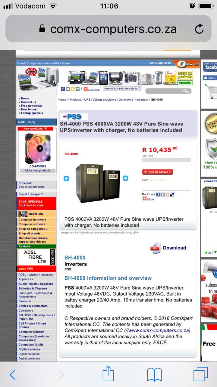 UPS/INVERTER 48V 3200W