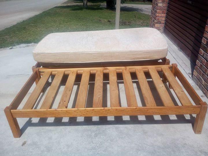 2 x Pine Beds and mattress