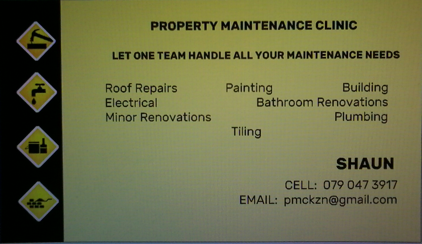 DOES YOUR HOUSE  NEED A HANDYMAN?