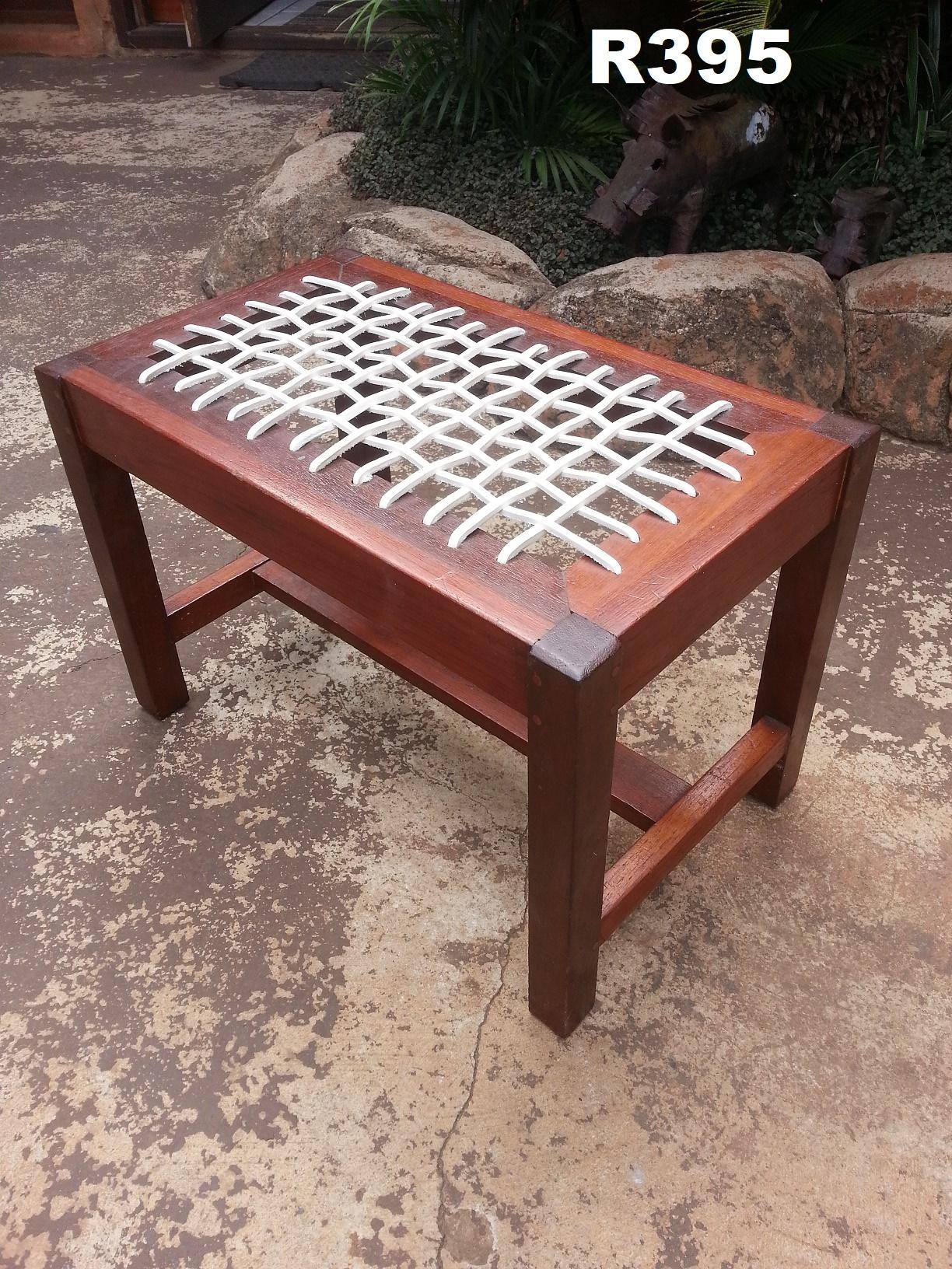Teak Riempies Dressing Table Chair (535x330x380)