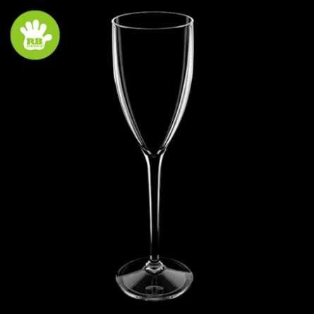 6x Clear Champagne flutes