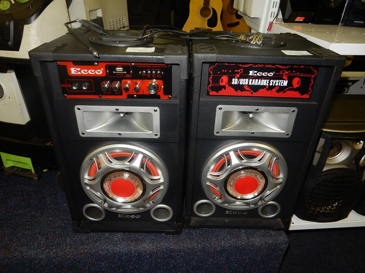 Ecco Karaoke Speaker Set