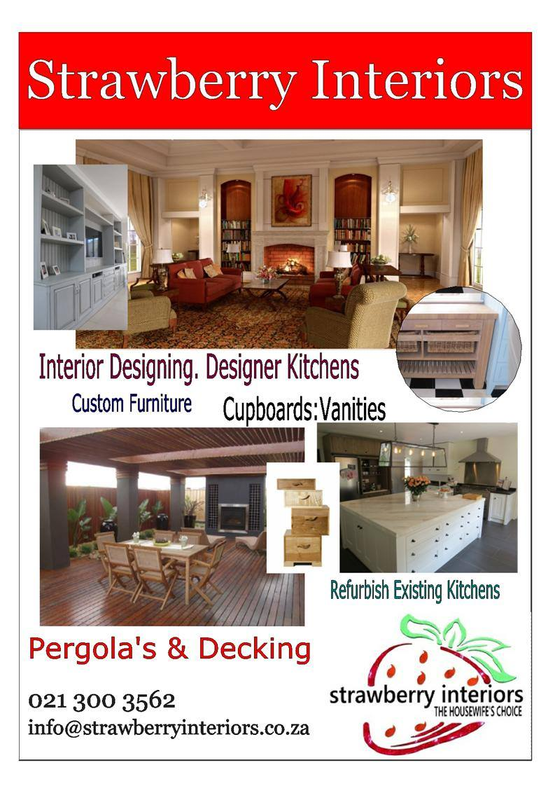 FREE CONSULTATION - LIMITED OFFER! CONTACT STRAWBERRY INTERIORS TODAY FOR ALL YOUR INTERIOR DESIGNING, KITCHEN'S, BIC, VANITIES AND PROJECT MANAGEMENT REQUIREMENTS