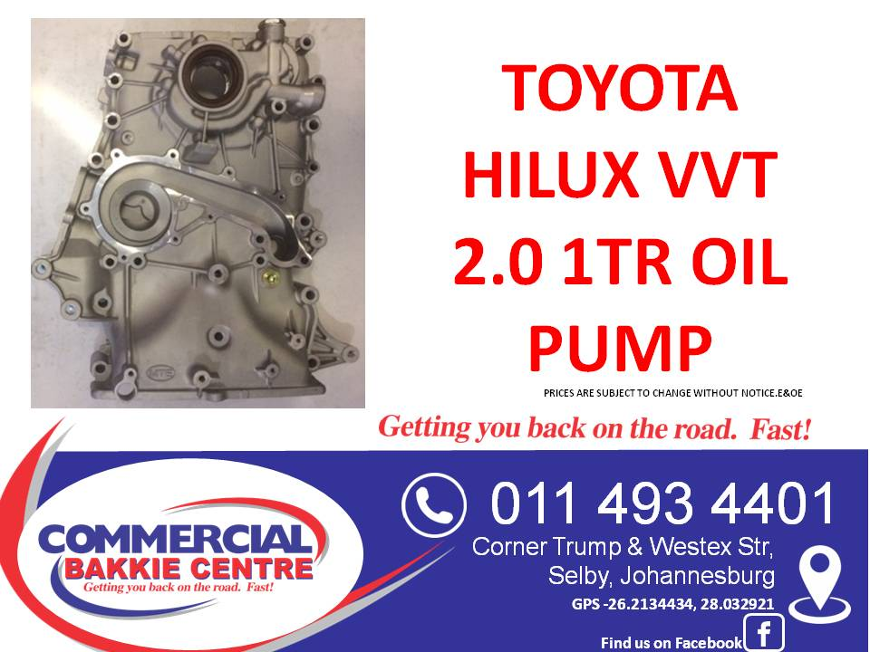 toyota hilux vvt 2.0 1tr oil pump new