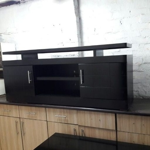 new black big tv stand