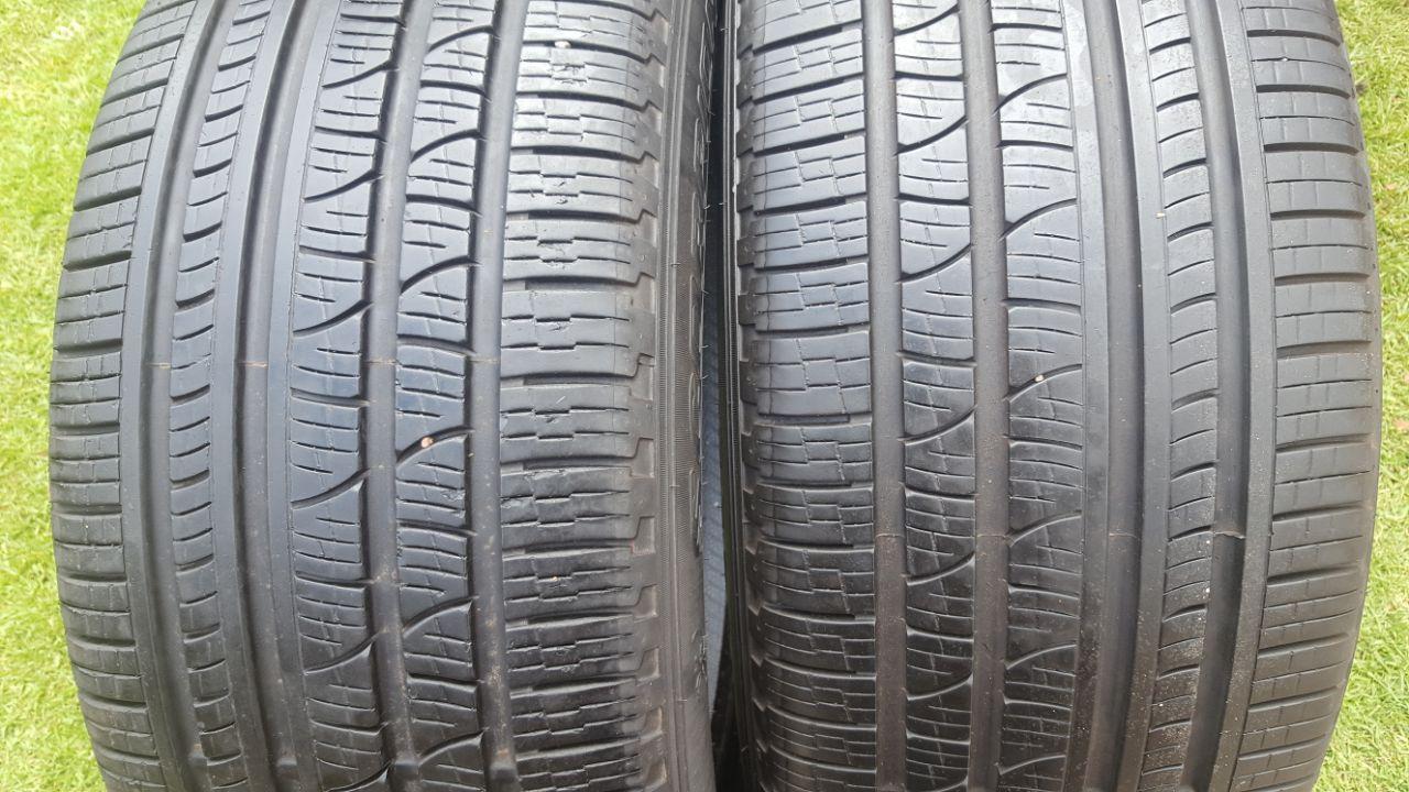 Two 90% tread 255/50/19 Pirelli Scorpion Tyres fits BMW X5 front