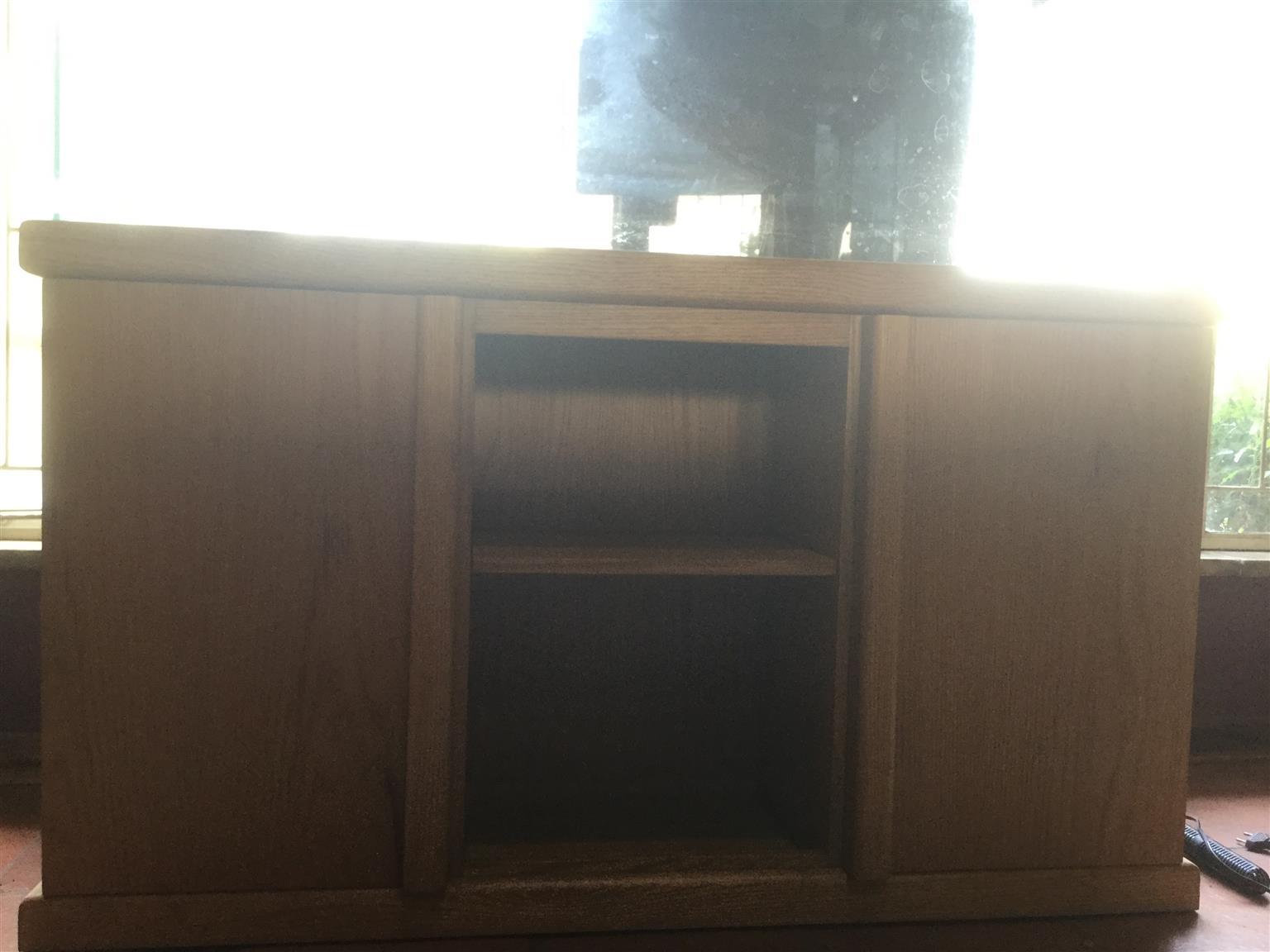 4 foot tank solid oak cabinet