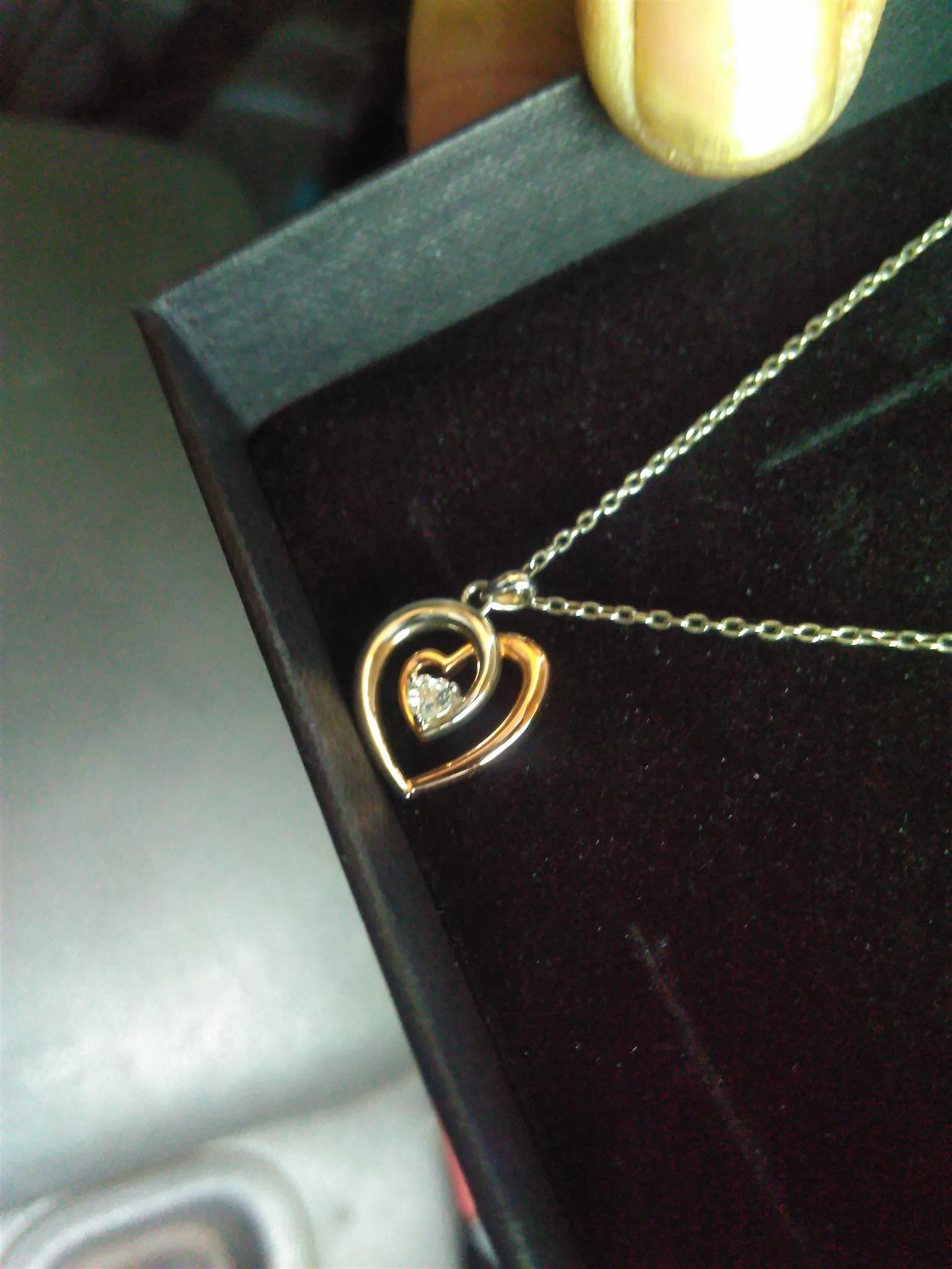 American Swiss Silver And Rose Gold Necklace Junk Mail