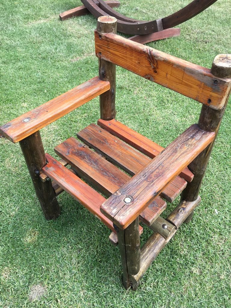 Wooden Garden Chair - solid - only 1 chair available