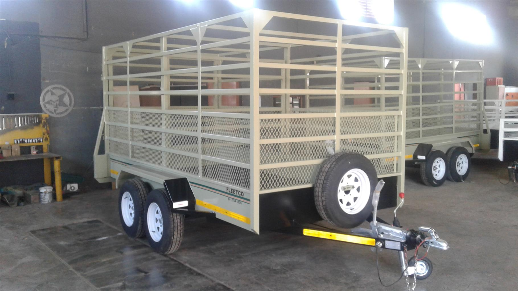 3.5M DOUBLE AXLE CATTLE TRAILER ONLY ON ORDER TO BE BUILD