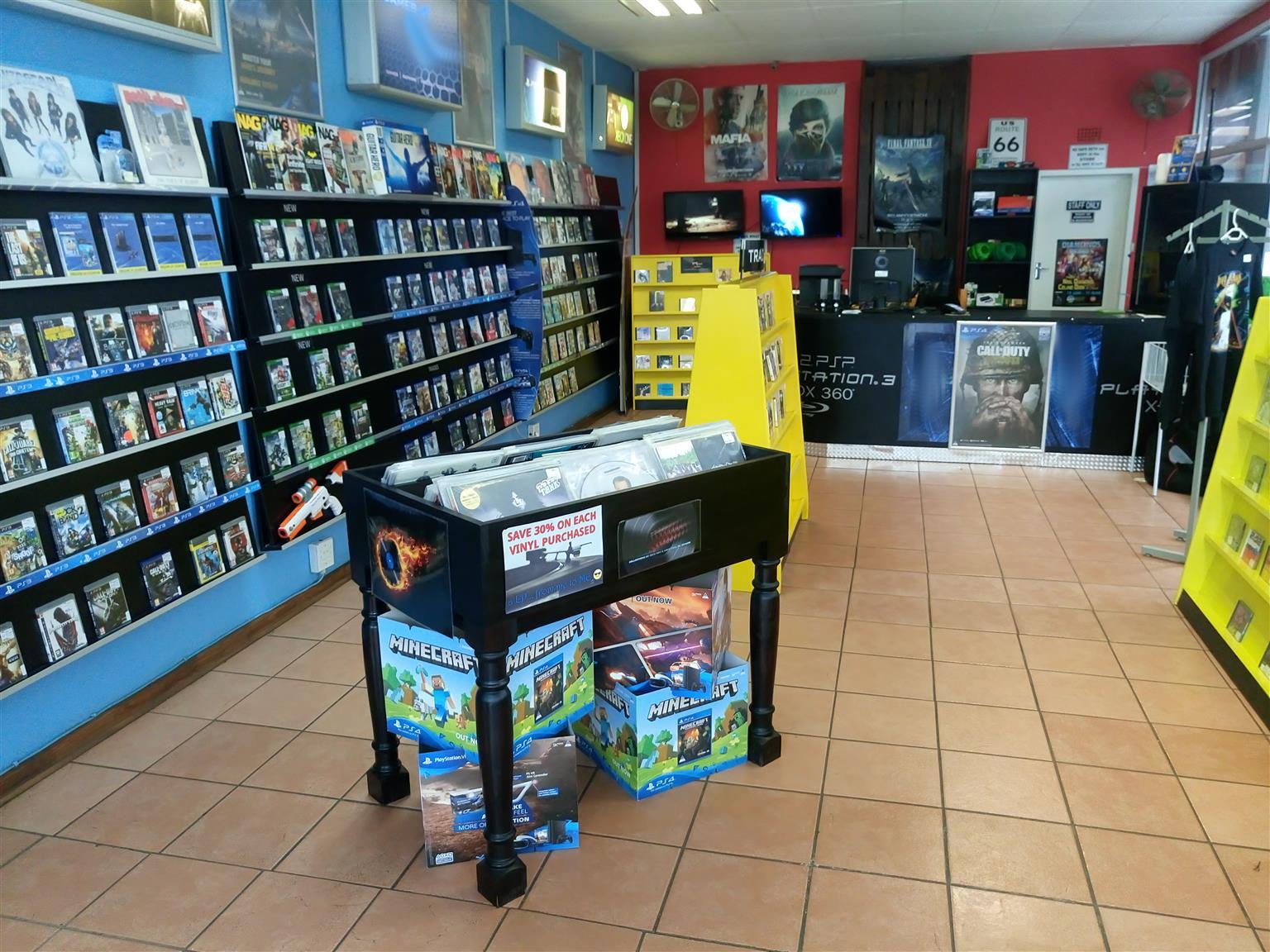 Well established game shop for sale.