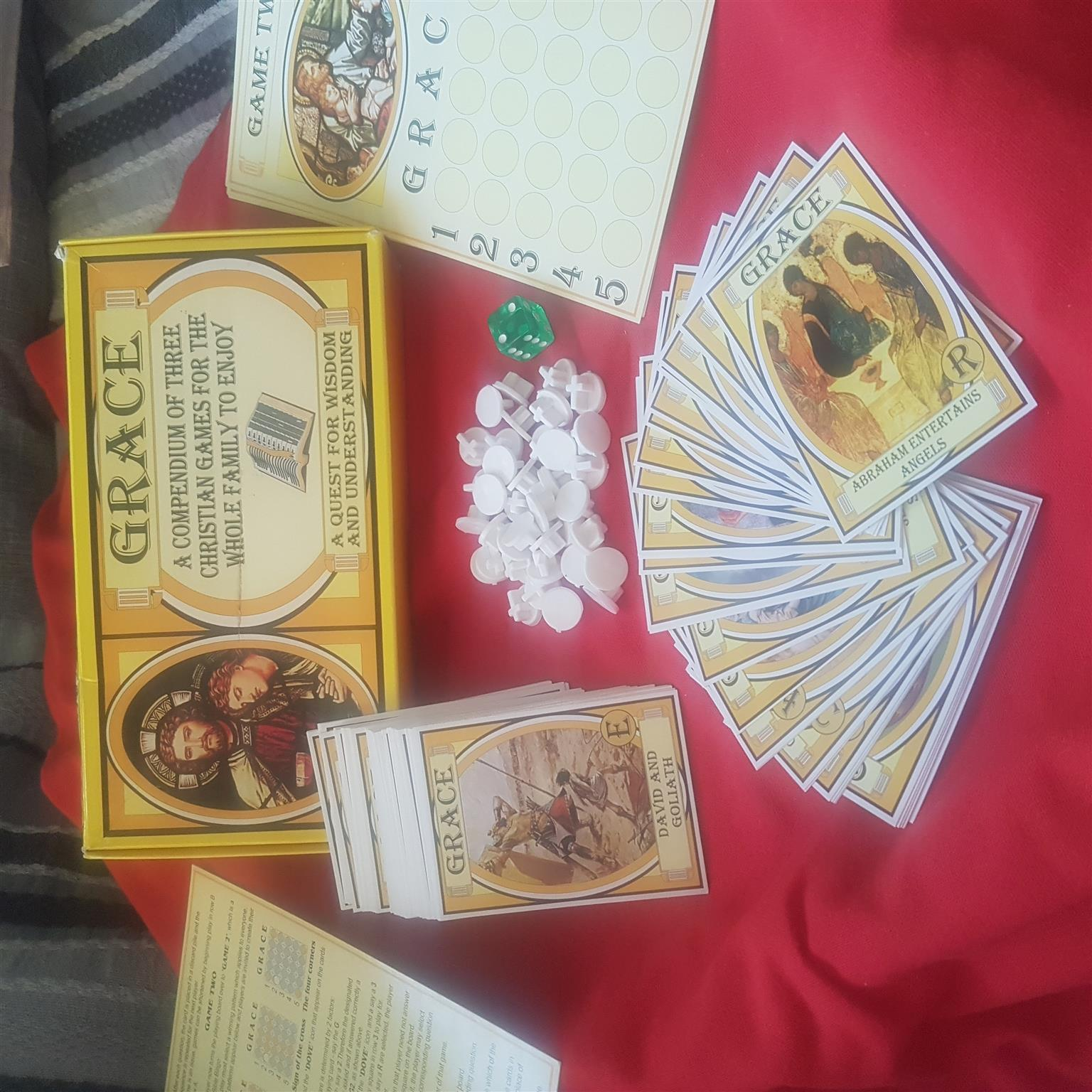 """""""GRACE"""" A 3 in 1 CHRISTIAN BOARD GAMES FOR THE WHOLE FAMILY TO ENJOY!!"""