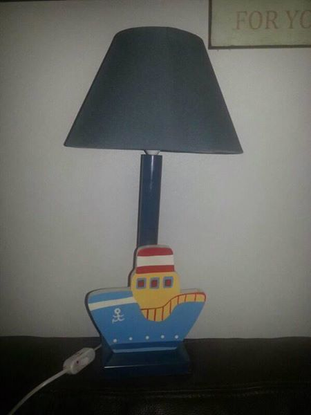 Blue boat lamp for sale