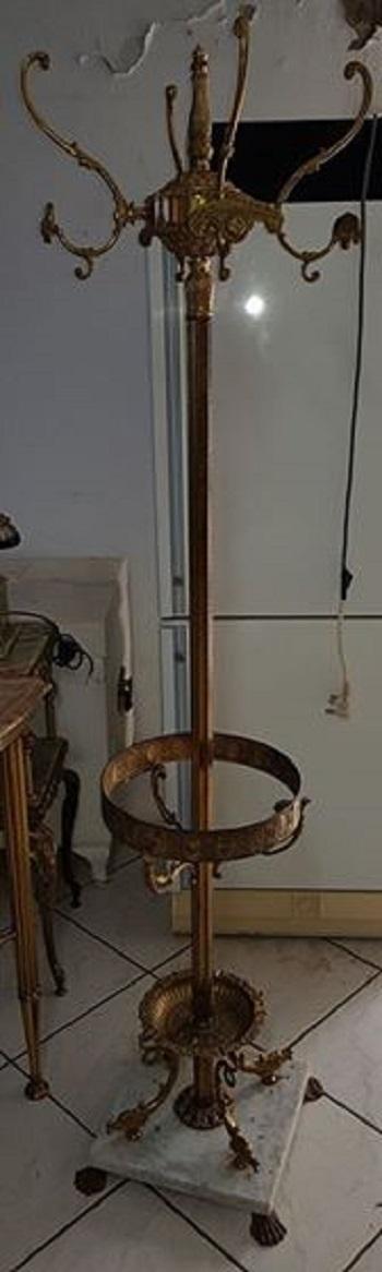 Marble and Bronze Coat rack