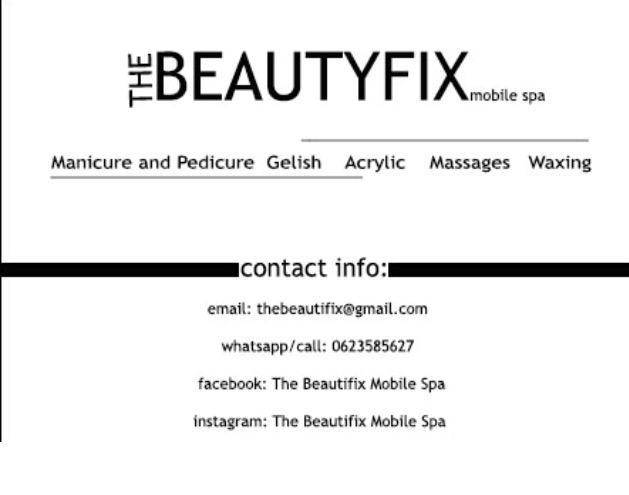 THE BEAUTYFIX MOBILE SPA: Spa packages for special occasions | functions