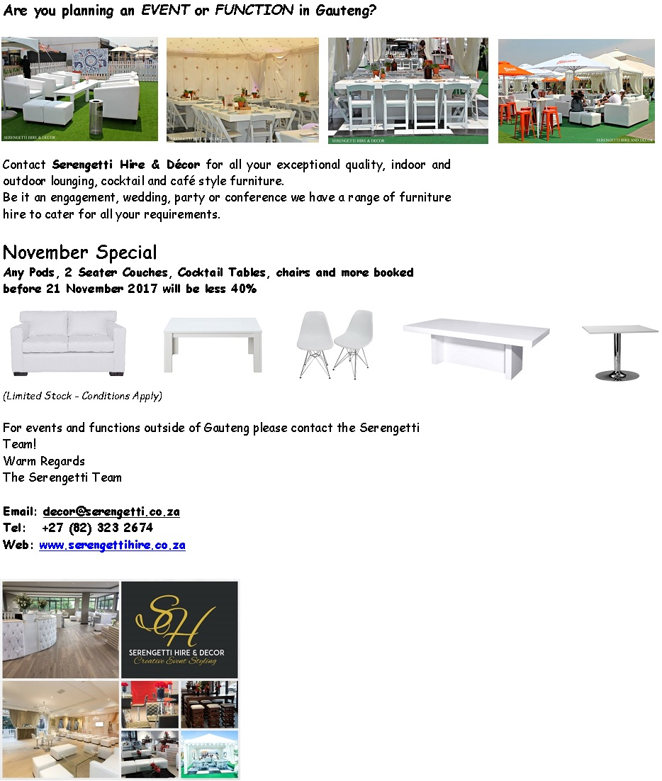 Furniture Hire and Decor