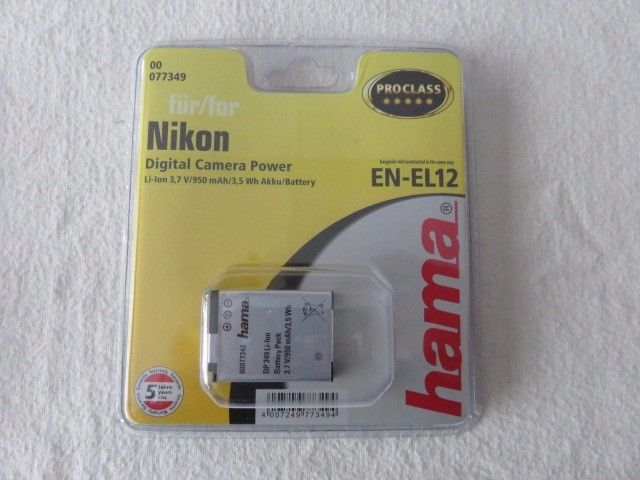 EN-EL12 battery for Nikon