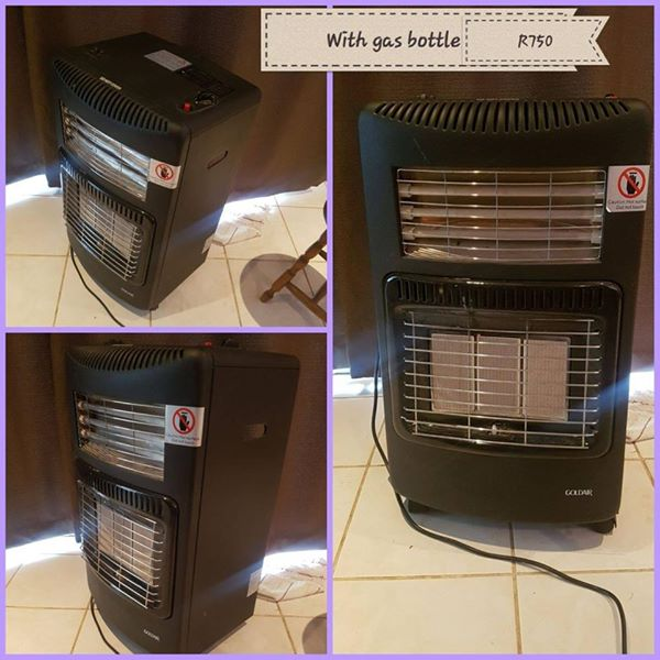 Gas heater with gas bottle