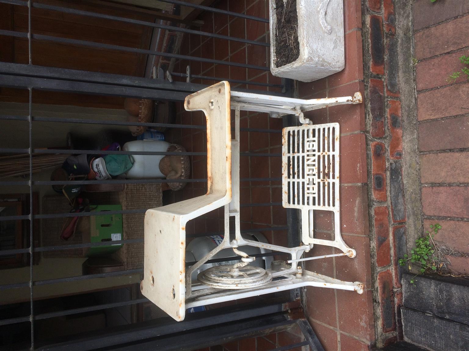 Antique Singer sewing machine stand