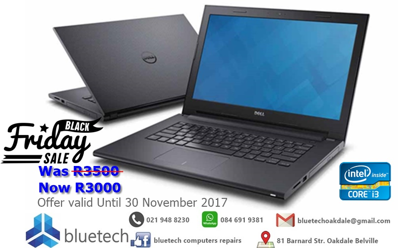 Dell Inspiron 15 3000 Series Intel Core i3-6006U 2.00GHz, 4GB RAM, 500GB HDD Laptop