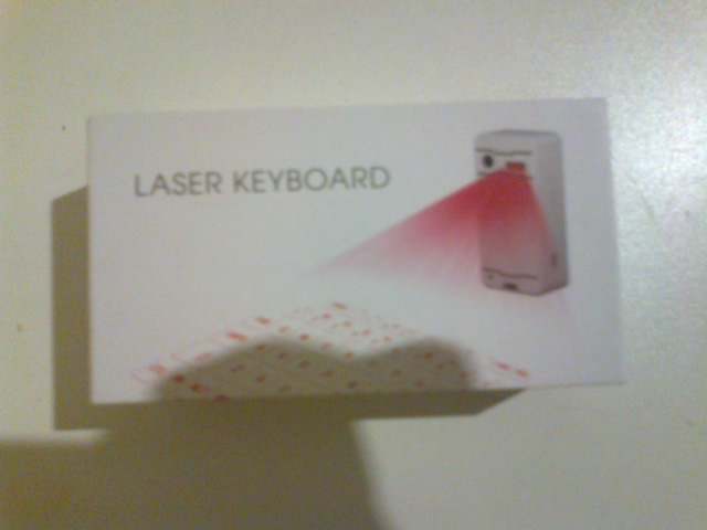 Bluetooth Laser Projection keyboard.
