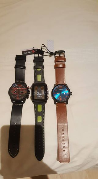 Leather strap watches for sale