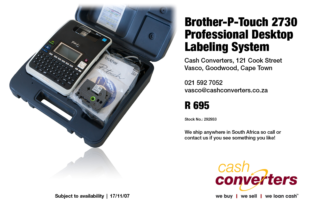 Brother-P-Touch 2730 Professional Desktop Labeling System
