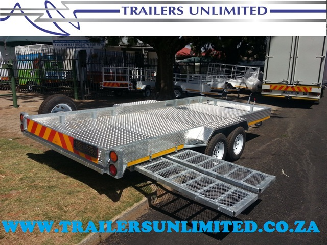 TRAILERS UNLIMITED HOT DIPPED GALVANIZED CAR TRAILERS.