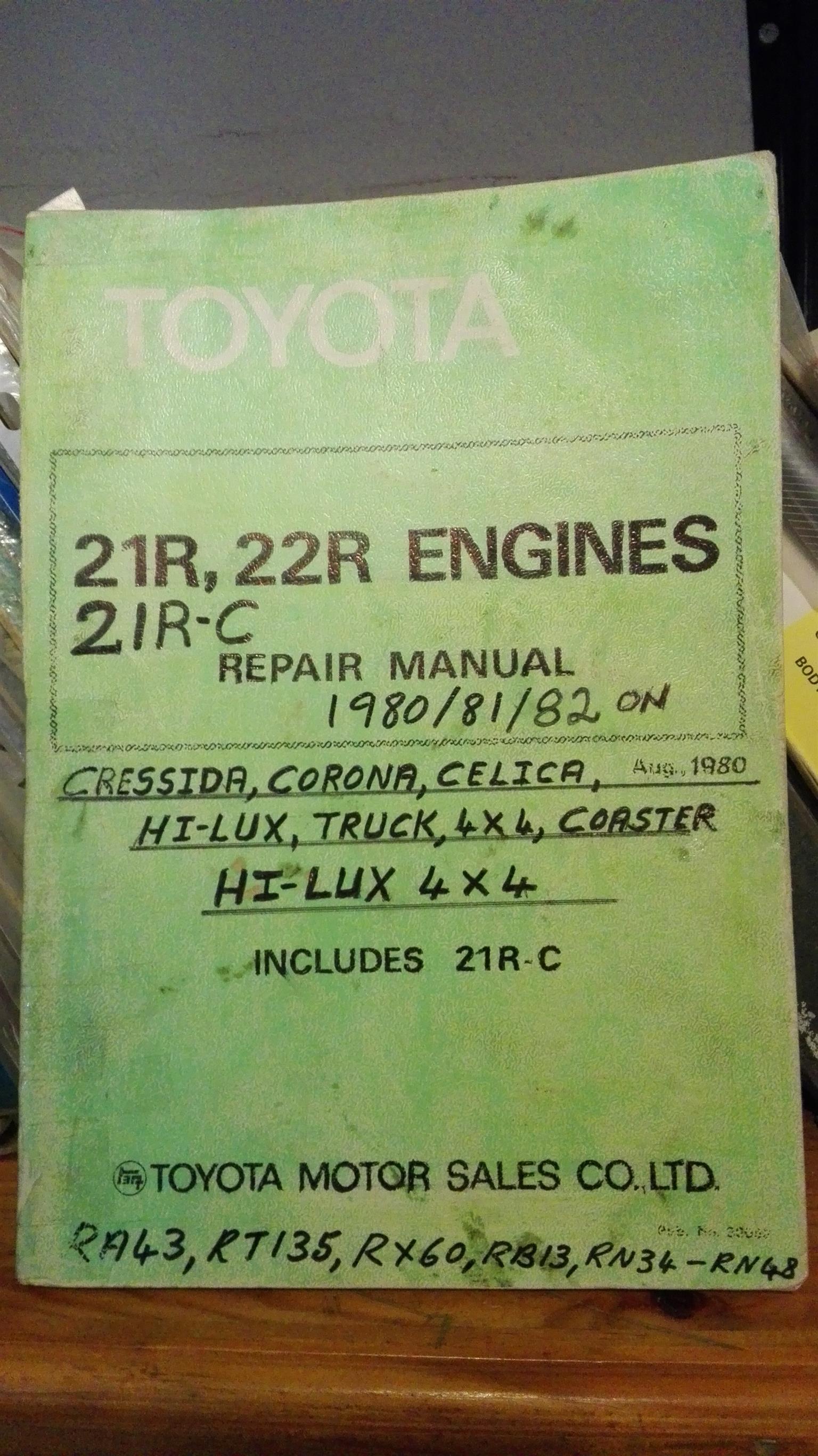Toyota 21R and 22R: repair manual