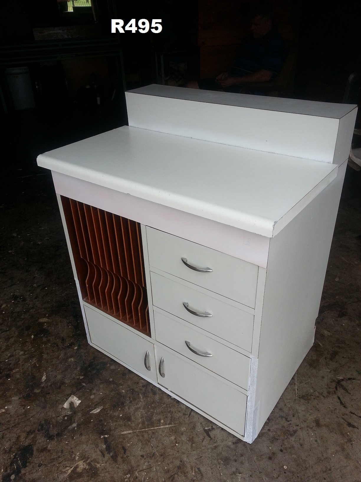 White 3 Drawer and File Cabinet (800x560x960)