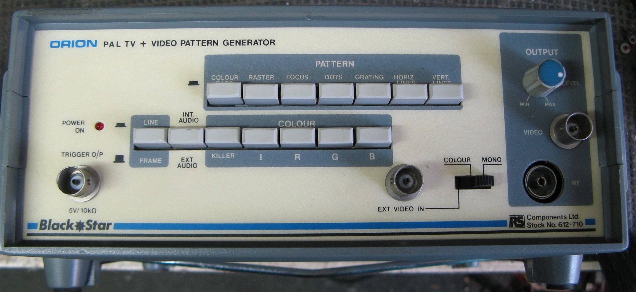 Blackstar Video signal generator