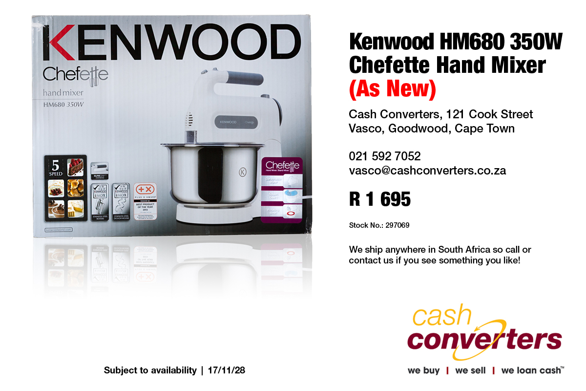 Kenwood HM680 350W Chefette Hand Mixer (As New)