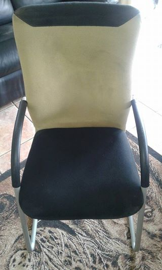Suede office chair