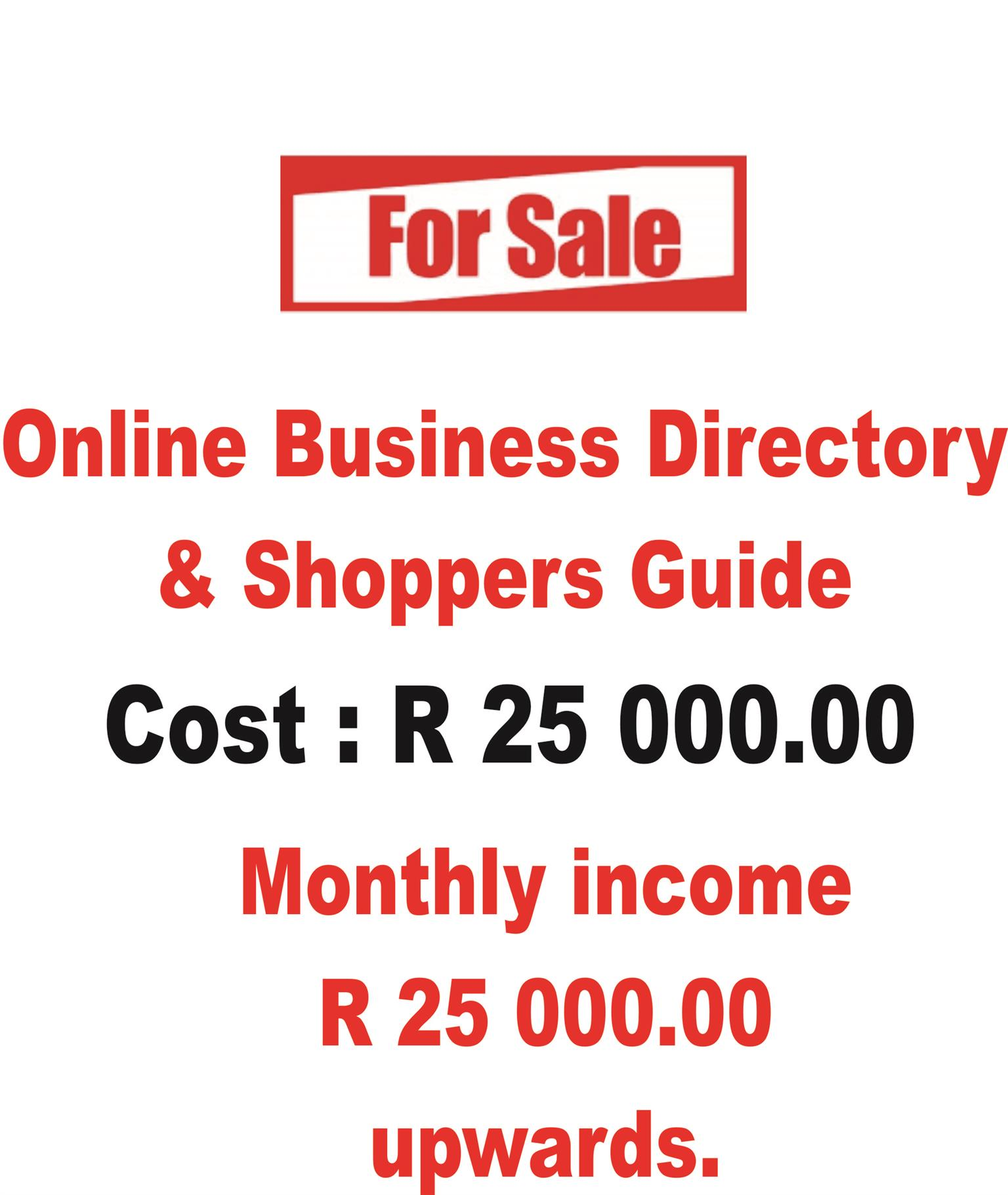 Online Business Directory & Shoppers Guide For Sale : R25000.00 ...
