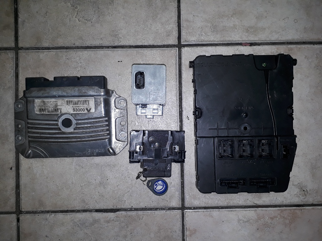 Renault Clio Uch Wiring Diagram Diagrams Data Base Ecu 3 1 6 16v Key Set Steering Lock Card Rh Junkmail Co Za On Duster For