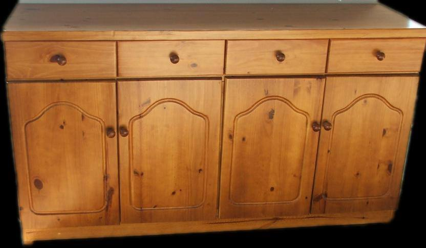 4 Door wooden kitchen cupboard