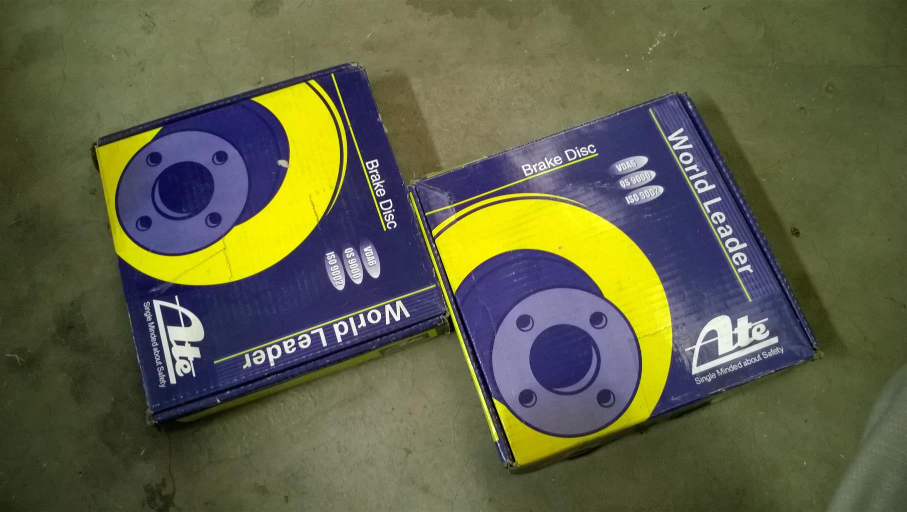 ATE Front Brake Discs bought for 2002 Nissan Sentra 140
