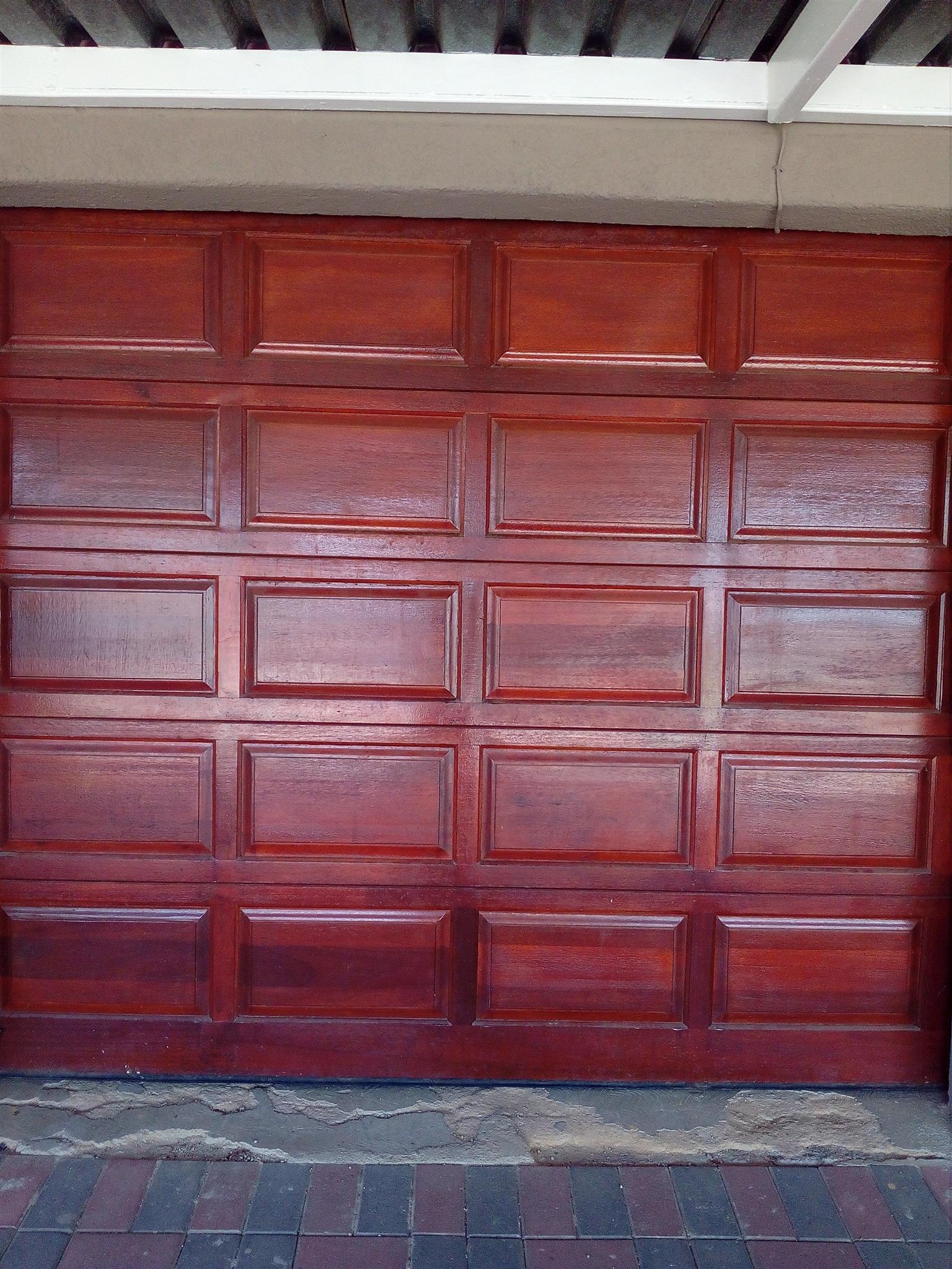 20 Panel Meranti Garage Door Junk Mail