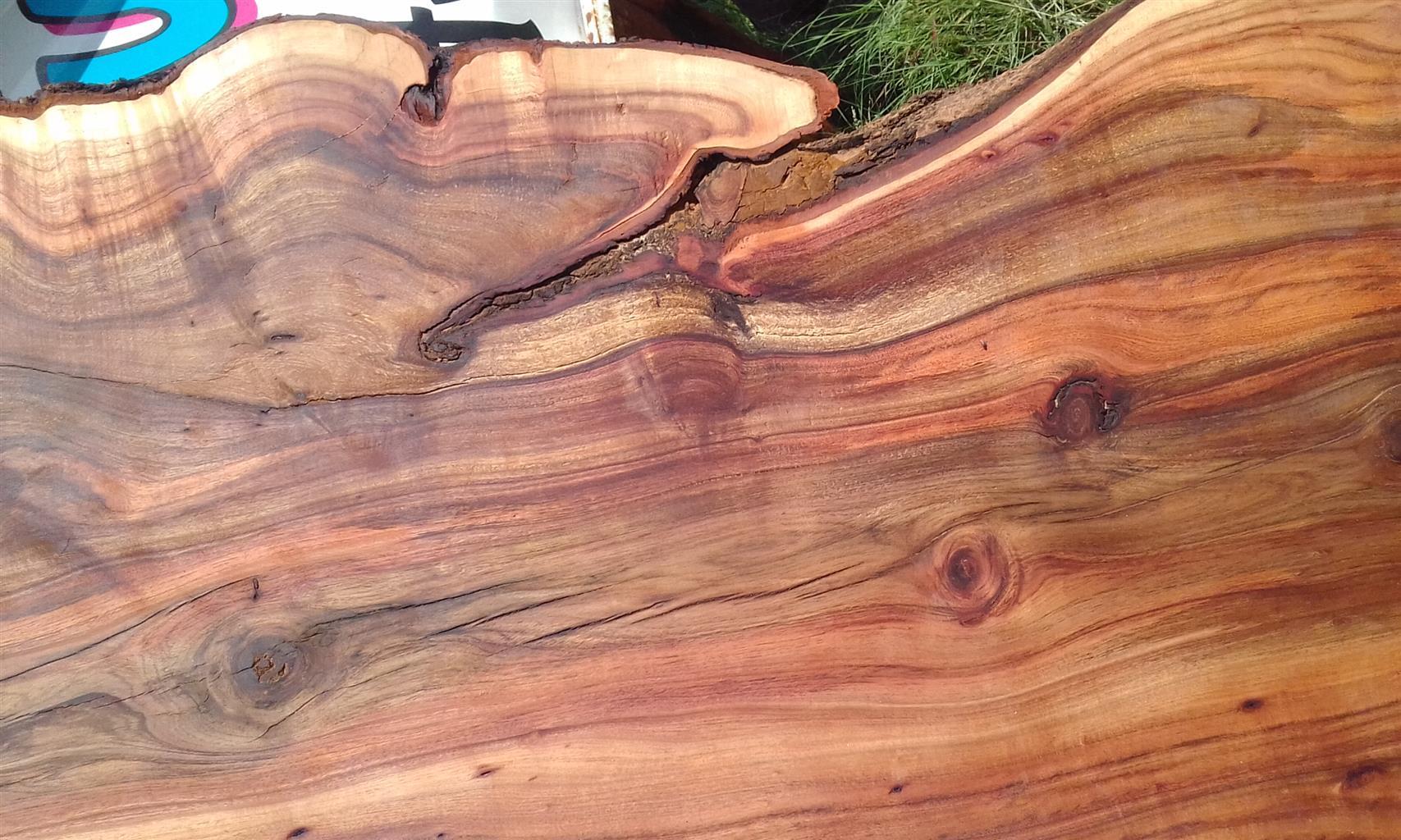 wooden slabs
