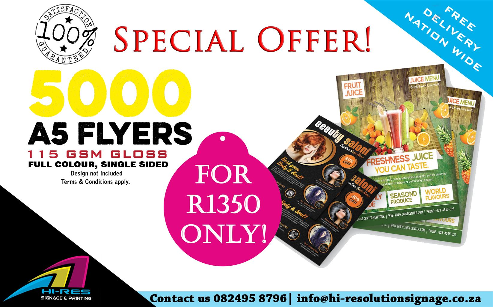 Hi-Resolution Signage and printing Flyer  special!