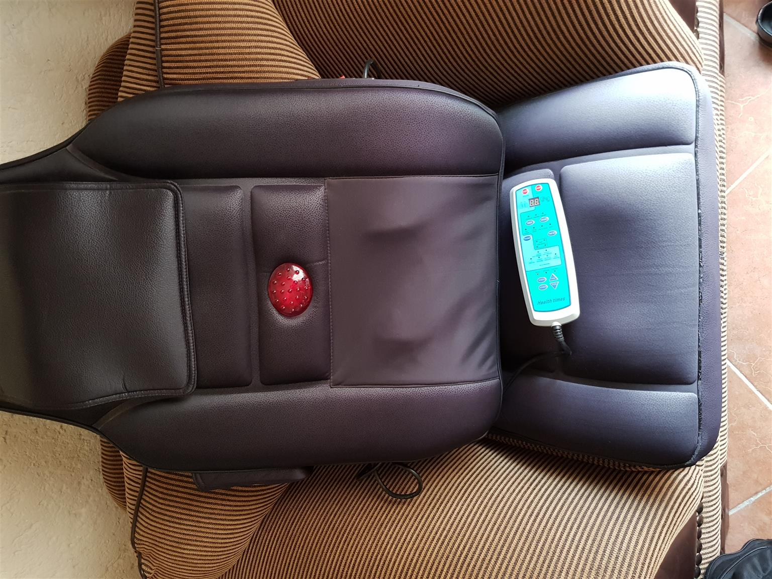 Massage chair with foot massager