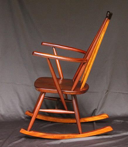 Very rare vintage Teak Danish rocking chair