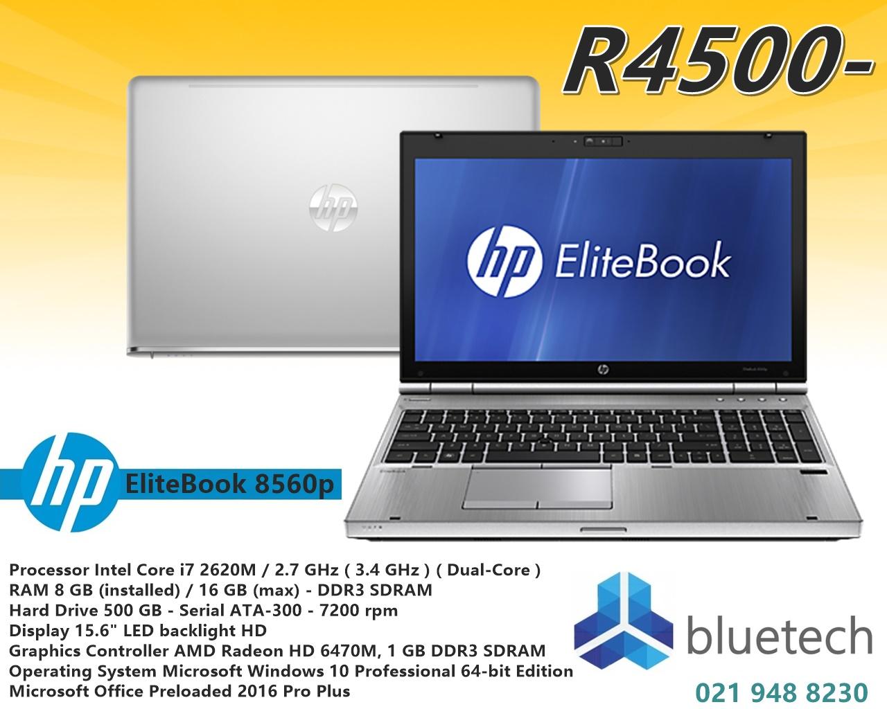 "Demo HP EliteBook 8560p - 15.6"" - Core i7 - Windows 10 Pro 64-bit - 8 GB RAM - 500 GB HDD"