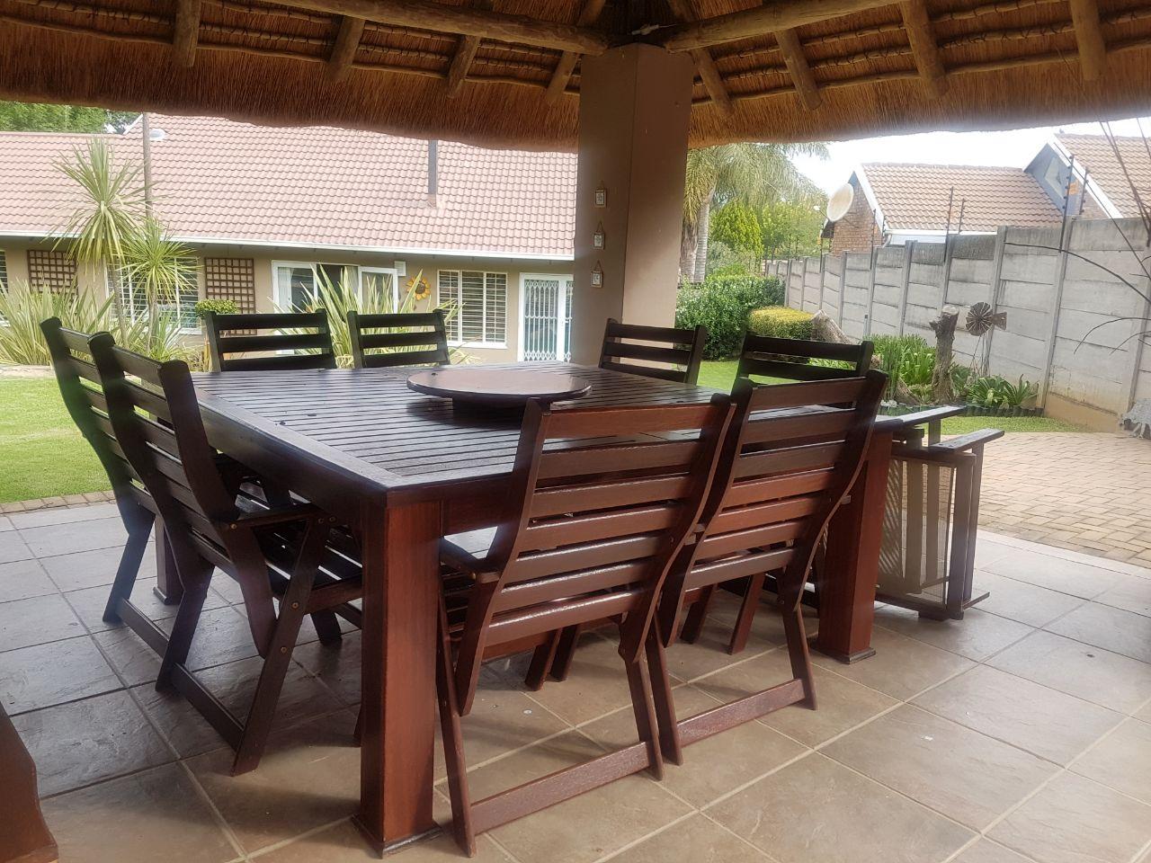 8 seater wooden outdoor garden set