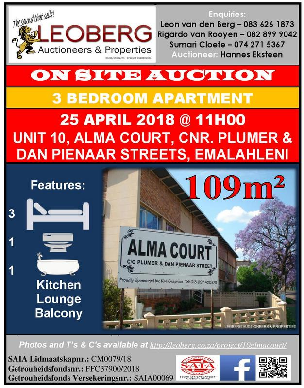 3 Bedroom Apartment on Auction - 25/04/2018 @ 11h00