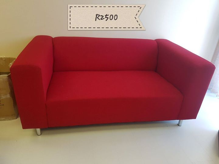 Red 2 seater couch for sale | Junk Mail